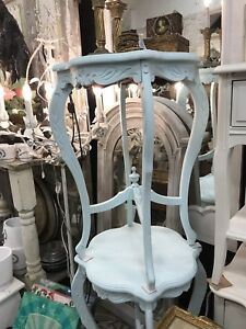 French Tables Finished in Shabby Chic Pale Blue