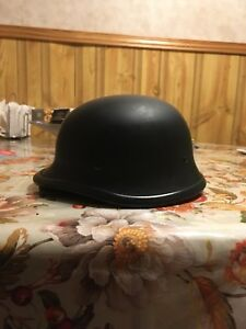 German war helmet, motorcycle helmet.