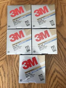 5x NEW 1989 3M High Density double sided diskettes 10pack $30ea.