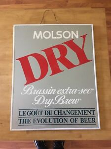 Molson Dry beer sign