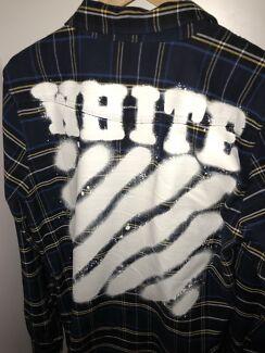 Off white flannel L