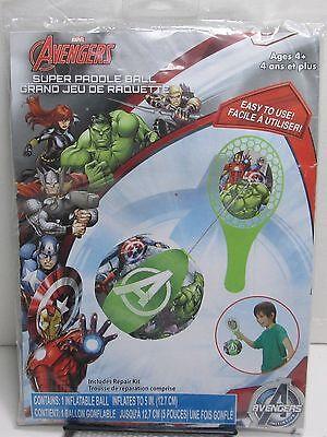NEW Marvel Avengers 28310AVG Kids Super Paddle Ball Inflatable Toy+Repair Kit - Family Guy Super Inflatable