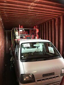 Space for a JDM in a shipping container from Japan