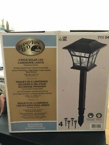 Garden LED solar panel lights (4pcs)