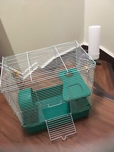 small pets cage with accessories