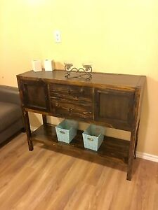 Rustic handmade entryway table or accent table