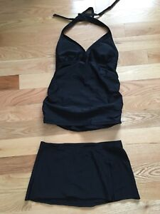 Size xsmall Maternity bathing suit (top and skirt)