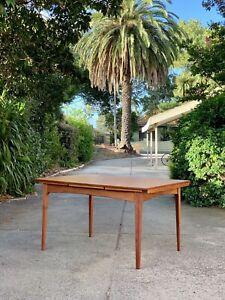 Restored Mid Century Teak FLER 64 dining table. Vintage Parker Style