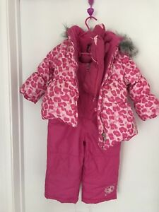 24 month almost new snowsuit with hotpaw mittens
