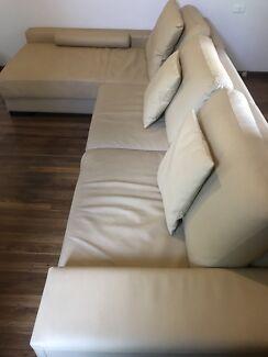 Sofa leather  Lalor Park Blacktown Area Preview