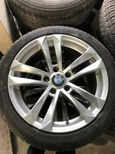 BMW WINTER TIRES AND OEM RIMS SNOW PACKAGE DEAL CHEAP 5x120