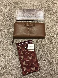 Coach Wallets and Sunglasses Case NEW!!!