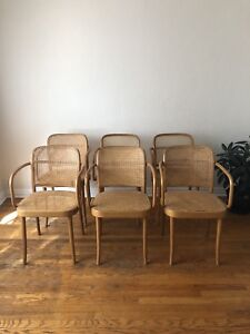 Set of 6 Bentwood Cane Chairs