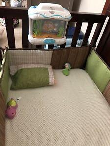 Crib with mattress