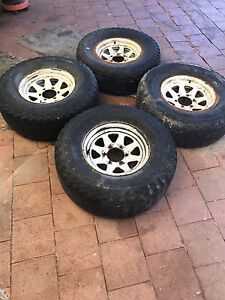 4WD Sunraiser Rim & Tyres 3x 31 x 10.5r15 LT Tubeless NISSAN PATROL Stirling Stirling Area Preview