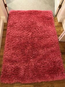 Hot Pink Shaggy Polyester Carpet