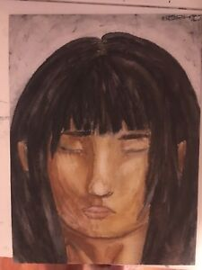 Watercolour painting portrait