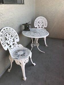 Lightweight wrought iron patio set