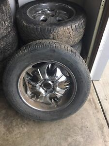 "Set of 20"" rims, 5 bolt, would fit a Ford F-150"