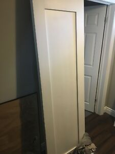 1 panel shaker door, solid core