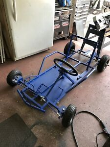 Brand New Go Cart Frame w/Wheels and Steering.