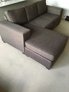 3 Seater lounge with Chaise and ottomann (pickup only) Cambridge Gardens Penrith Area Preview