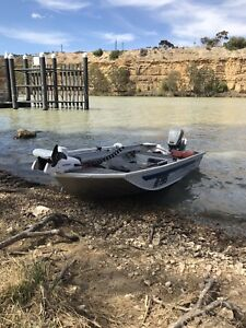 Quintrex traveler tinnie with trailer and trolling motor