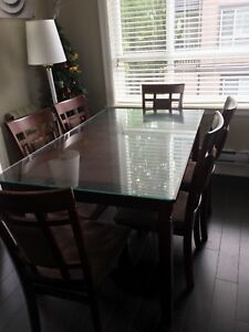 Seven pieces Solid wood dining table set