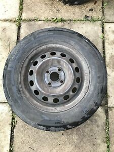 3 steel rims and used Michelin HydroEdge tires
