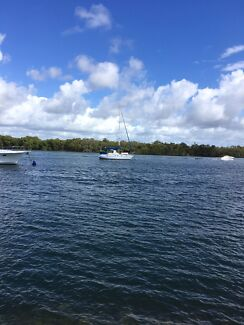 10.6 Roberts sloop. Aust regn. Moored  Coomera Rv paradise  point