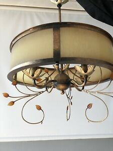 Beautiful ceiling dining light with detachable accents