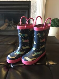 Toddler Girls Rubber Boots - Size 8