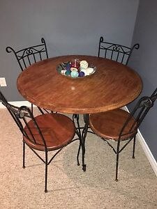 Cast iron table with chairs