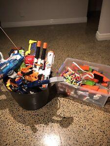 Lots of Nerf guns