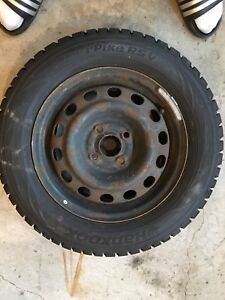 Hankook I Pike Winter tires with rims. 185/65R14 $300