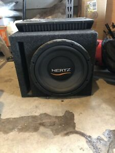 """Hertz audio 12"""" subwoofer with amp and box"""
