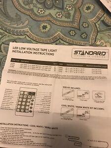 Standard led tape lighting
