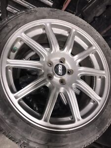 5x100 BBS wheels with tires