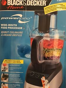 New food processor includes all accessories