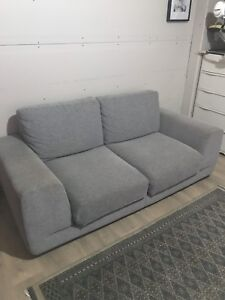 Sofa moderne Maison Corbeil Gris - grand 2 places