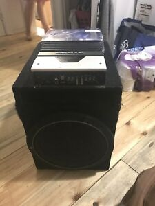 Subwoofer and Amplifier with Installation kit