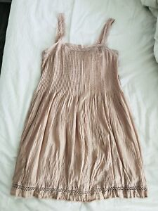 Aritzia Wilfred Pink Pleated Dress - Size S