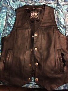 Two leather vests , new