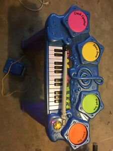 Kids keyboard and drumset