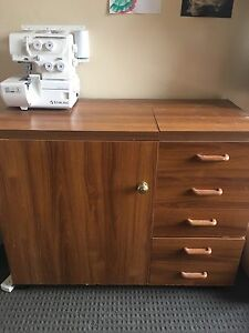 Sewing cabinet with extra table space and ample storage Summer Hill Ashfield Area Preview