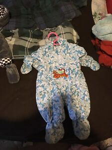 Tigger snowsuit 6 month