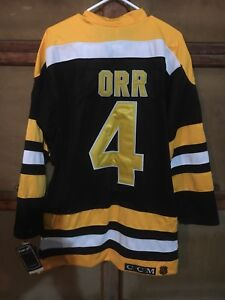NEW Adult XL Bruins Bobby Orr Jersey