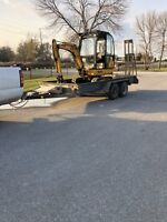 Bobcat and mini ex available for hire call 647-239-4188