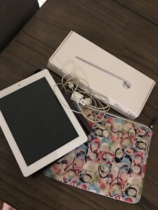 iPad with Coach sleeve and wireless keyboard