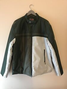 Tommy Green and white zipper Jacket